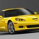 Corvette Z06 jaune face